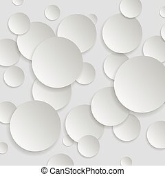 Paper Round Background with Drop Shadows