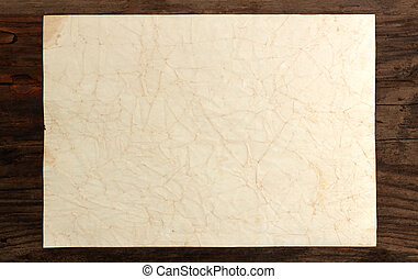 paper rumpled old blank weathered wood background