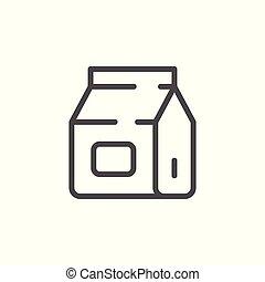 Paper sack line icon