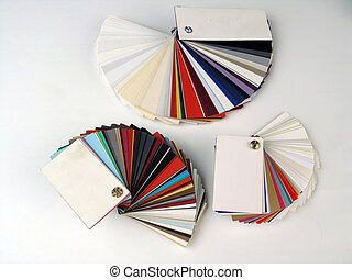 Paper samples on white bakground - Colored samples of...