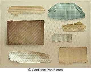Paper scraps decorative vector illustration