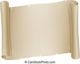 Paper Scroll Banner Parchment Background