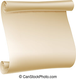 Paper Scroll Illustration - Background illustration of an...