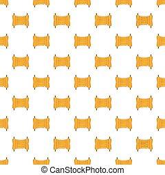Paper scroll pattern, cartoon style
