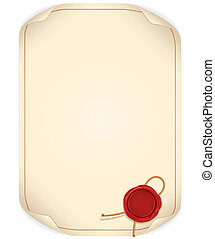 Paper Scroll with Wax Seal