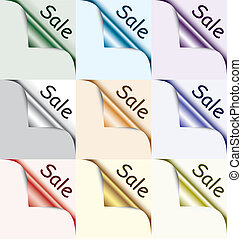 illustration paper set with sale label
