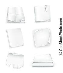 Paper set, vector