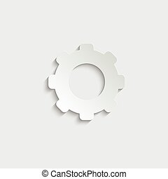 paper Settings  - vector icon