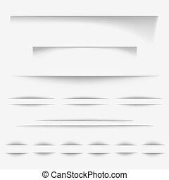 Paper shadow lines vector illustration