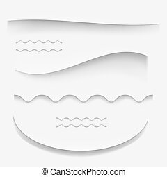 Paper shadow with curved lines vector illustration