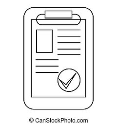 Paper sheet document icon, outline style