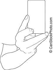 paper sheet - Hands with a paper sheet