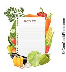 Paper sheet recipe with vegetables