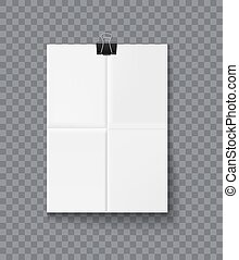 Paper sheet vector realistic illustration