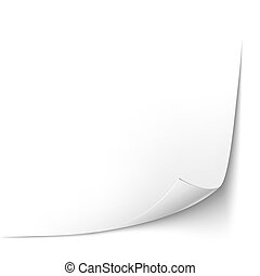 Paper Sheet With Curled Corner. Vector illustration
