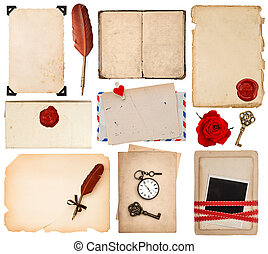 paper sheets for love letters. vintage book pages