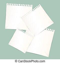Paper Sheets Vector Illustration