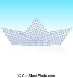 Paper ship origami. vector illustration