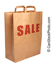 Paper shopping bag for sale.