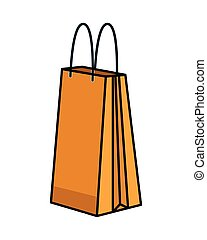 paper shopping bag isolated icon