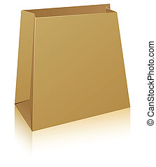 Paper shopping bag. - Vector illustration of paper shopping...
