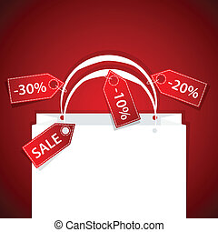 paper shopping bag with discount