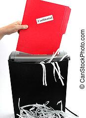 paper shredder 2 - paper shredder with confidential folder...