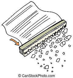 Paper Shredder - An image of a paper shredder.