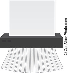 Paper Shredder - Paper shredder cutting up a piece of paper...