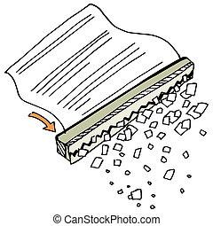 Paper Shredder - An image of a paper shredder.