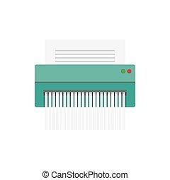 paper Shredder Icon, vector illustration. Flat style