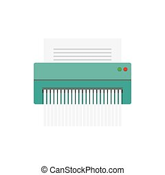 paper Shredder Icon, vector illustration. Flat style