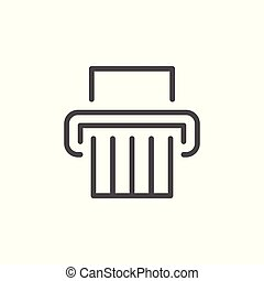 Paper shredder line icon