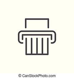 Paper shredder line icon