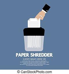 Paper Shredder Machine.