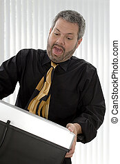 Paper Shredder - Fourty something business man with tie...
