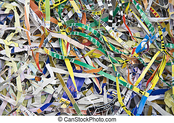 Background of shredded paper used for packing material