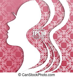 paper silhouette of woman
