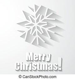 Paper snowflake applique.