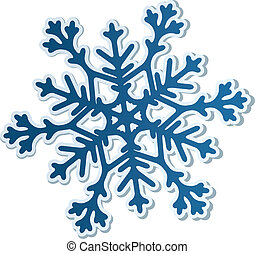 Paper Snowflake - Beautiful paper snowflake isolated on...