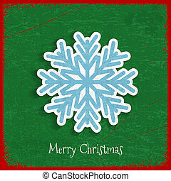 Paper snowflake on Christmas vintage background