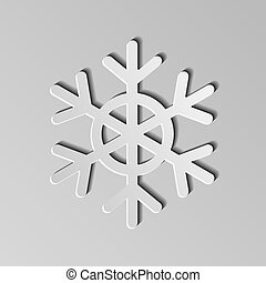 Paper Snowflake. Vector Illustration.