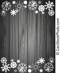 paper snowflakes on a background of