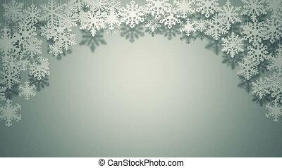 Paper snowflakes swinging decor