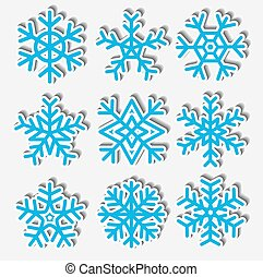 Paper snowflakes. Vector illustration