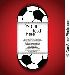 Paper soccerball background