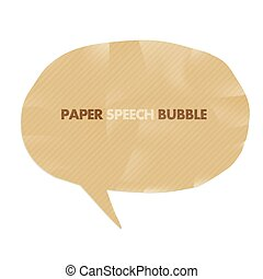 Paper speech bubble. Vector