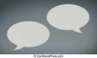 Paper Speech Bubbles - Animation of empty paper speech...