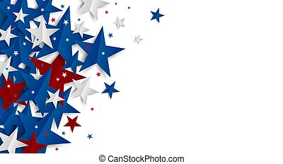 Paper star on white background with copy space Independence day and Holiday banner vector illustration