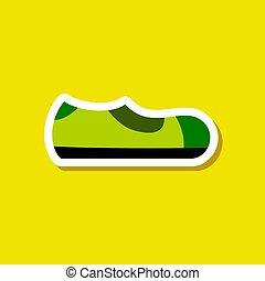 paper sticker fashion footwear Man shoe